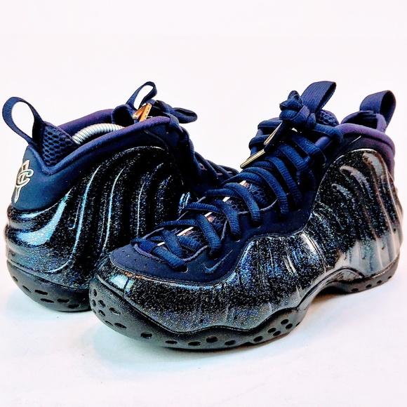 finest selection 7184f b3545 NEW Nike Air Foamposite Obsidian Navy Blue Glitter